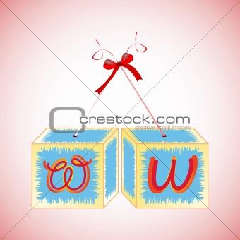 cubes alphabet W