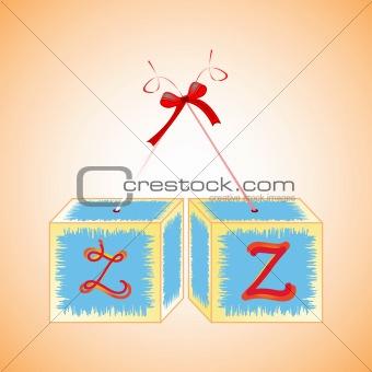 cubes alphabet Z
