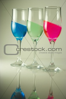 3 color glasses