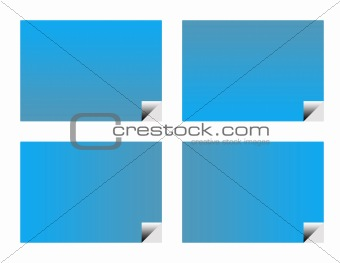 Blank blue business labels