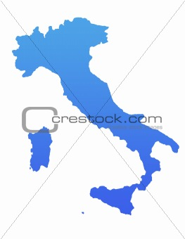 Blue Italy map