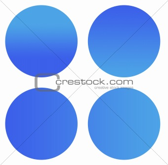 Blank blue sticker buttons