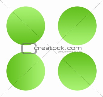 Green gradient buttons