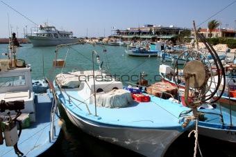 Cyprus fishing boats