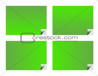 Green eco business cards