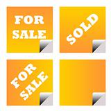 For sale sold business labels