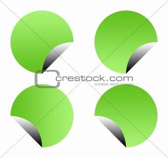 Green gradient buttons