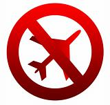 No flying aircraft sign