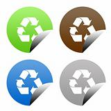 Eco recycling buttons