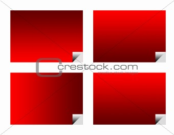 Blank red business labels