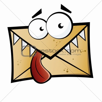 Funny cartoon letter monster