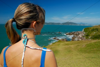 A Woman looking to landscape