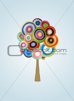 Painted tree