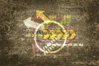 Grunge background and texture with arrows for design.