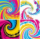 colorful whirlwind pattern