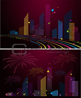 abstract city background