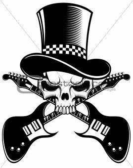 skull and guitar