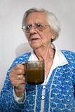 Upset old woman.