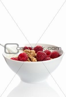 Bowl of raspberry dessert
