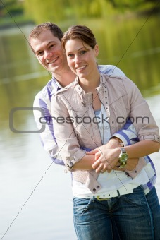 Beautiful young couple together