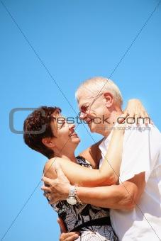 Happy mature couple