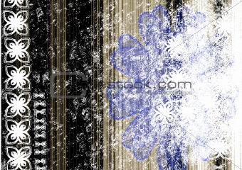 grunge flowered background