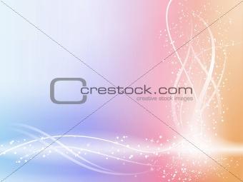 Beautiful Pastel Background with stars and swirls.
