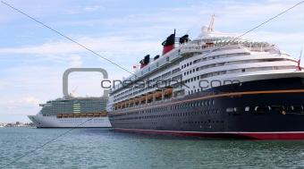 Cruise Ships Docked at Port Canaveral, Florida