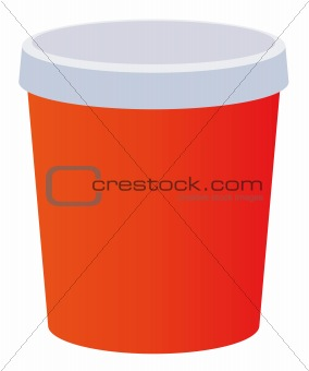 a red beverage cup