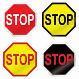 stop road sign variation
