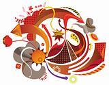 arrows pattern background