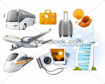 Transport and Travel icons