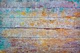 Wall - rotten boards with colored stains