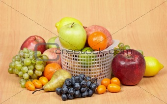 Arrangement of variety of different fruits