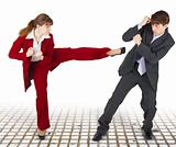 Extreme office quarrel men and women
