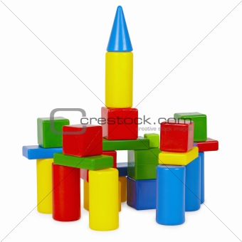 Tower of toy bricks