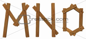 wooden letters mno