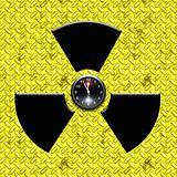 radiation sign with clock inside