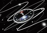 abstract clock in space