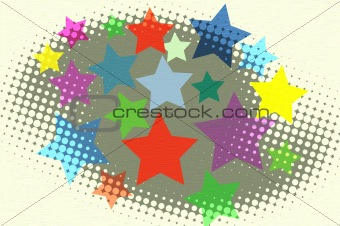 Stars halftone background for design with space for text or imag