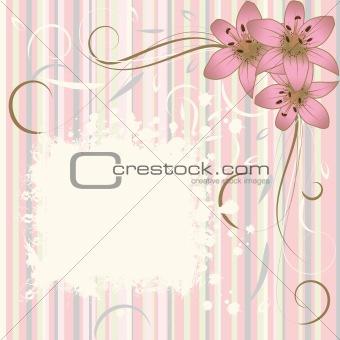 Grunge flower background, element for design