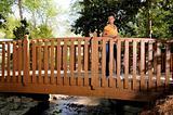 Black Woman on a Bridge