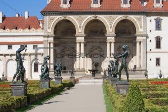 prague, czech republic - baroque wallenstein garden at mala strana