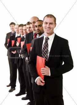 Business men with documents