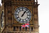 London big ben with union jack flag