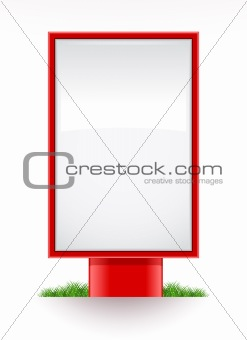 blank advertising stand citylight
