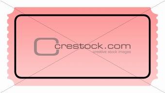 Blank pink ticket