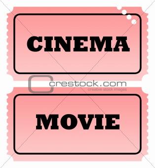 Cinema and movie tickets