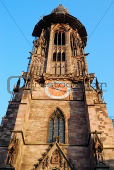 Clocktower of Freiburg cathedral