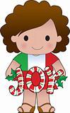 Italian Christmas Girl